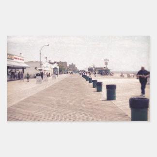 Coney Island Boardwalk Rectangular Sticker