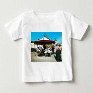Coney Island Carousel 1890s Magic Lantern Slide Tee Shirt