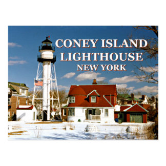 Coney Island Lighthouse, New York Postcard