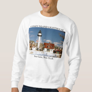 Coney Island Lighthouse, Sea Gate New York Sweatshirt