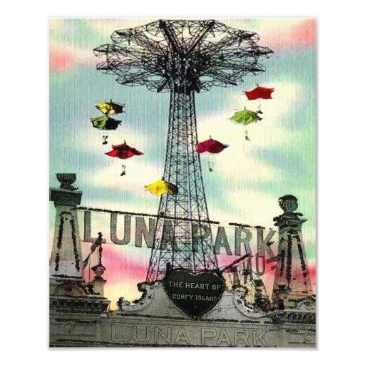 Coney Island Luna Park Amusement park brooklyn ny Photographic Print
