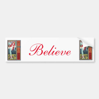Coney Island mermaid Believe Bumper Sticker