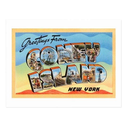 Coney Island New York NY Vintage Travel Postcard