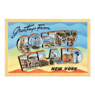 Coney Island New York NY Vintage Travel Postcard - Photo Print
