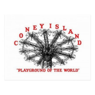 Coney Island New York - Playground of the World Postcard
