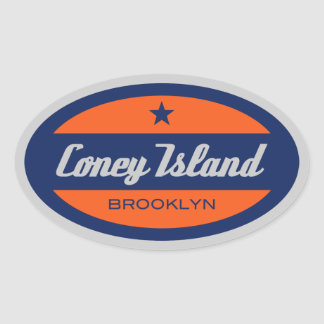Coney Island Oval Sticker