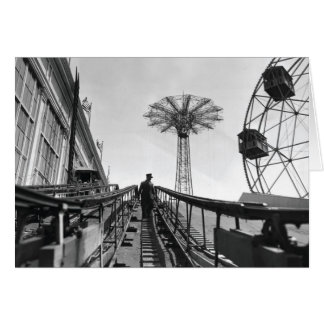 Coney Island Roller Coaster-1826597.bw.jpg Card