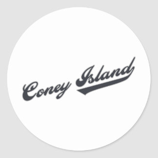 Coney Island Round Sticker