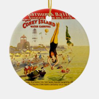 Coney Island Sideshow Poster Christmas Ornament
