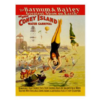 Coney Island Sideshow Poster Postcard