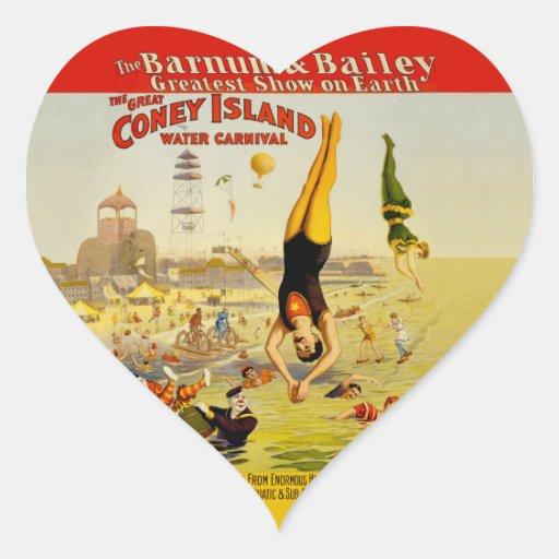 Coney Island Sideshow Poster Sticker