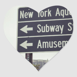 Coney Island Sign Heart Sticker