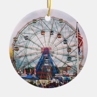 Coney Island Wonder Wheel Photo Christmas Ornament