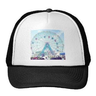 Coney Island Wonderwheel Ferris Wheel in Summer Mesh Hats