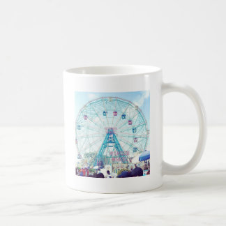 Coney Island Wonderwheel Ferris Wheel in Summer Coffee Mug