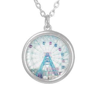 Coney Island Wonderwheel Ferris Wheel in Summer Custom Necklace