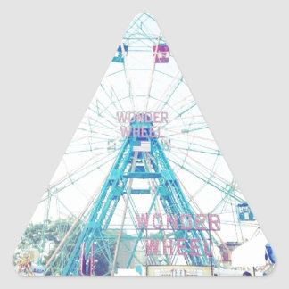 Coney Island Wonderwheel Ferris Wheel in Summer Triangle Sticker