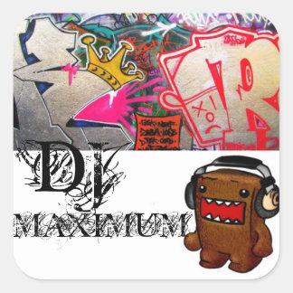 CONEY ISLANDS OWN DJ MAXIMUM SQUARE STICKERS