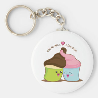 Confection Afffection Basic Round Button Key Ring