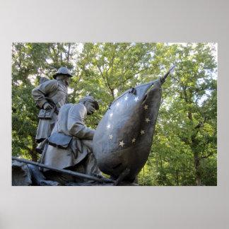 Confederate Civil War Monument ~ Shiloh, TN Poster