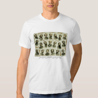 Confederate Commanders of The Civil War Tee Shirts