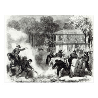 Confederate cotton burners near Memphis Postcard