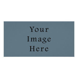 Confederate Dark Blue Color Trend Blank Template Photo Card Template