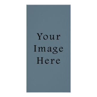 Confederate Dark Blue Color Trend Blank Template Customised Photo Card
