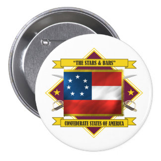 Confederate First National 7.5 Cm Round Badge