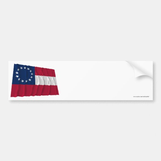 Confederate First National Flag, 13 Stars Bumper Stickers