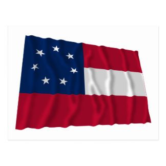 Confederate First National Flag, 7 Stars Post Cards
