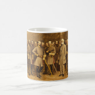 Confederate General Robert E. Lee and his Generals Basic White Mug