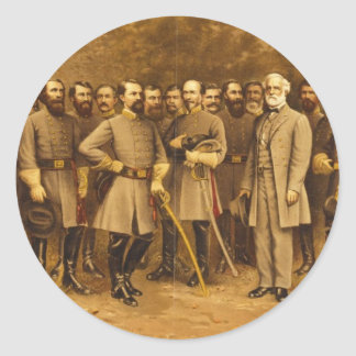 Confederate General Robert E. Lee and his Generals Round Sticker
