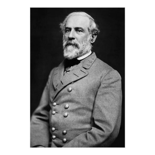 Confederate General Robert E. Lee Portrait Poster