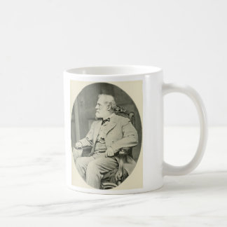 Confederate General Robert E. Lee Sitting in Chair Basic White Mug