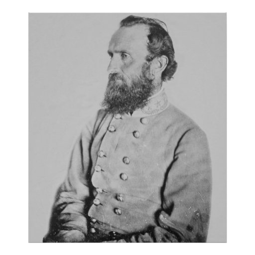 Confederate General Thomas J Stonewall Jackson Poster