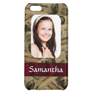 Confederate money photo template cover for iPhone 5C