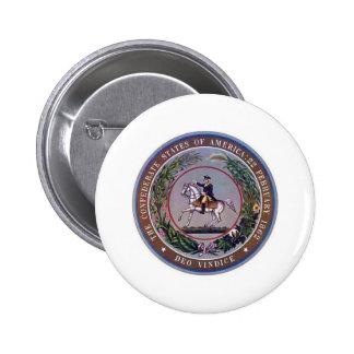Confederate States of America Seal 6 Cm Round Badge