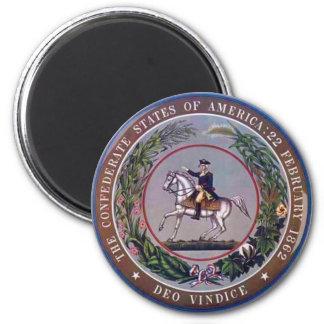 Confederate States of America Seal 6 Cm Round Magnet