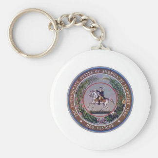 Confederate States of America Seal Basic Round Button Key Ring