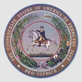 Confederate States of America Seal Round Sticker
