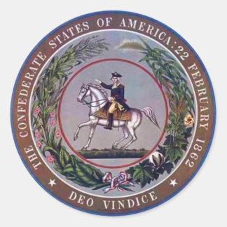 Confederate States of America Seal Round Stickers