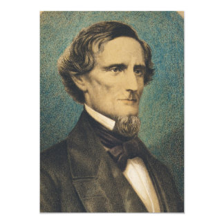 Confederate States President Jefferson Davis 13 Cm X 18 Cm Invitation Card