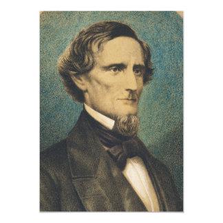 Confederate States President Jefferson Davis 5x7 Paper Invitation Card