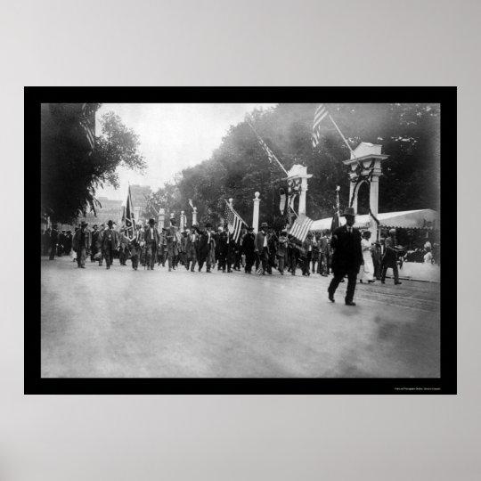 Confederate Veterans Parade in Washington, DC 1917 Poster