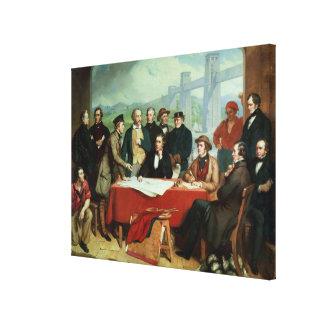 Conference of Engineers at Britannia Bridge Gallery Wrap Canvas