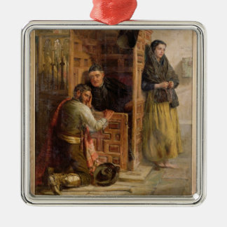 Confession, 1862 (oil on canvas) christmas ornament