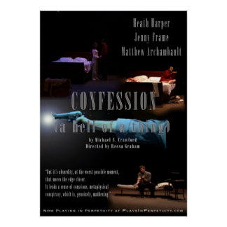"""""""Confession...(A Hell of a Thing) Large Poster"""