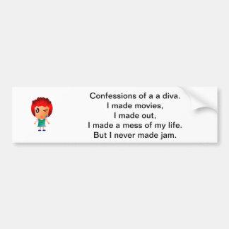 Confessions of a diva - bumper sticker