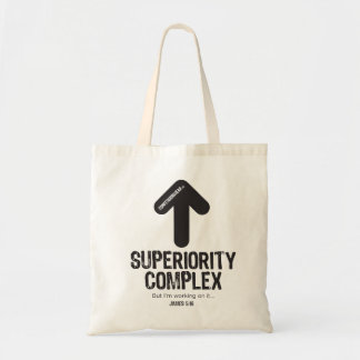 CONFESSIONWEAR: SUPERIORITY COMPLEX TOTE BUDGET TOTE BAG